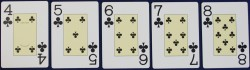 Draw Poker, straight flush